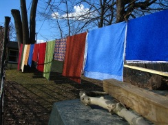 Wash day at the Carding Academy of Traditional Arts