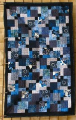 Disappearing nine patch quilt by Joanne Shapp