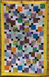 Disappearing nine patch by Lynn Wheatley