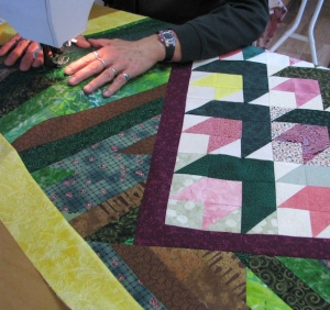 Quilting flower quilt for web