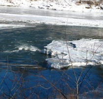 The icy Corvus River
