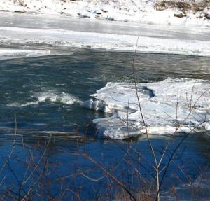 The icy Corvus River