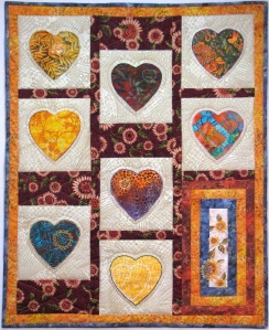 This quilt is the symbol of the Parkinson's Comfort Project
