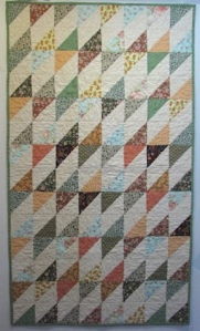 Triangle quilt made for the Parkinson's Comfort Project