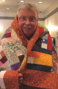 This colorful quilt is also by Bob Johnson.