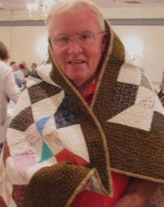 Another Bob Johnson special. He donated eight quilts to the Parkinson's Comfort project this past winter.