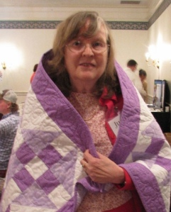 This amethyst quilt is also by Ellie Leach.