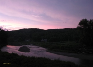 View from Carding Campgrounds at sunset