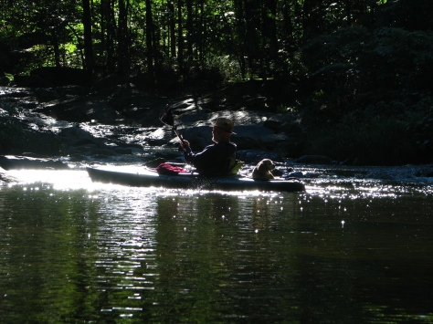 Jay and Goldie on the CT River 2014