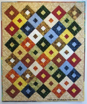 Raffle quilt made for the Upper Valley Haven