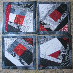 Black, white and red coasters 2014 for web