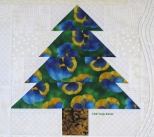 Multi-color tree from wallhanging