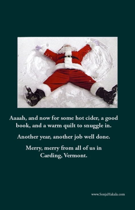 SH-Santa snow angel