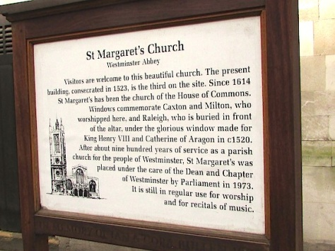 St. Margaret's Church sign