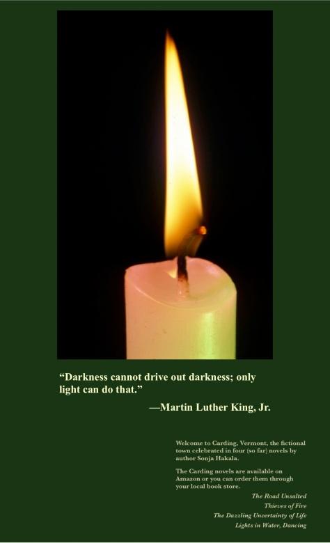 SH-lit candle