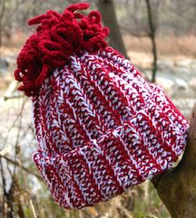 Red and white Haven Hat for web